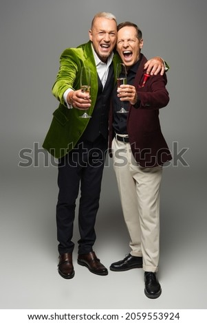 Champagne verres nouvelle année célébration bouteille 2012 Photo stock © aispl