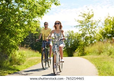Couple riding bikes Stock photo © photography33