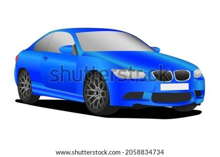 Büyük spor sedan üç yandan görünüş araba Stok fotoğraf © lkeskinen