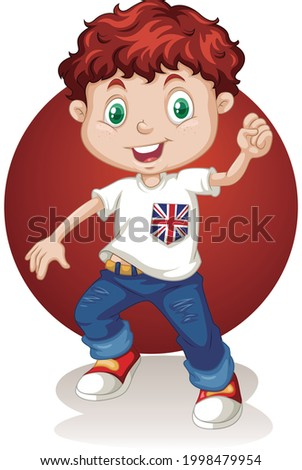 Kicsi fiú visel piros póló rajz Stock fotó © wavebreak_media