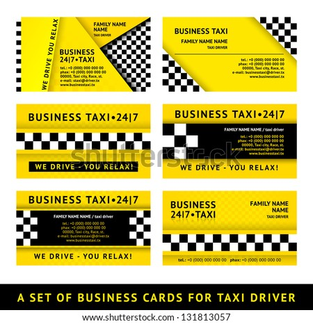 Business card taxi - tenth set stock photo © Ecelop