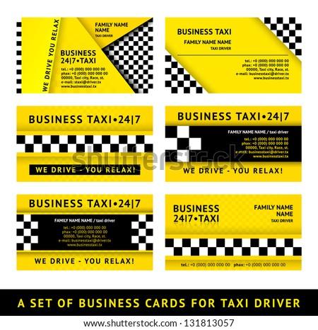 визитной · карточкой · такси · вектора · шаблон · автомобилей · печать - Сток-фото © ecelop