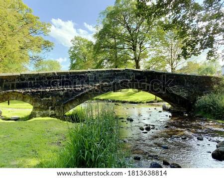 Köprü alan kış gün doğa mavi Stok fotoğraf © aetb