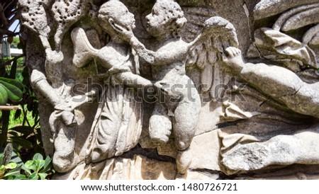 Ancient Roman Angel Statue Ostia Antica Rome Italy Stock photo © billperry