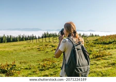 vadi · mavi · dağlar · park · Avustralya · görmek - stok fotoğraf © lovleah