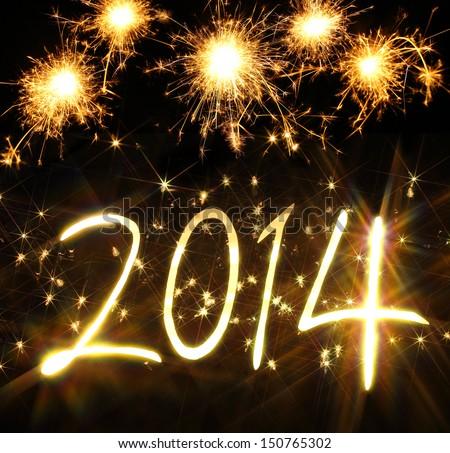 с Новым годом начала 2014 вектора фон знак Сток-фото © burakowski