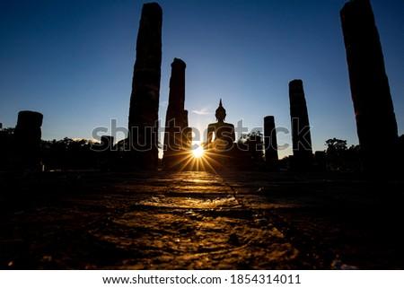 buddha statue in thai temple Stock photo © tungphoto
