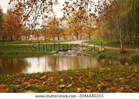 autumn in the popular park stromovka in prague stock photo © capturelight