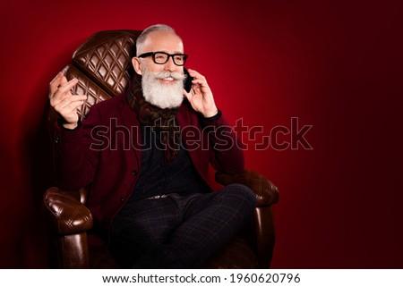 ストックフォト: ファッション · 男 · 長い · 赤 · あごひげ · 眼鏡