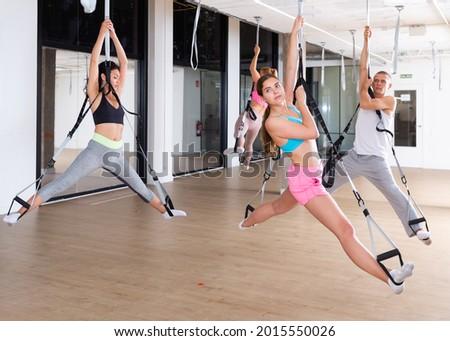 Pilates reformer woman russian split exercise Stock photo © lunamarina