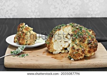 pörkölt · karfiol · fűszeres · sült · tányér · főzés - stock fotó © rojoimages