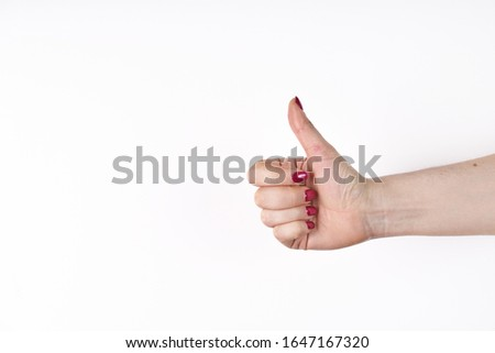 Hand gesture against white background stock photo © wavebreak_media