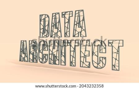 Database Architect Job Vacancy. 3D. Stock photo © tashatuvango