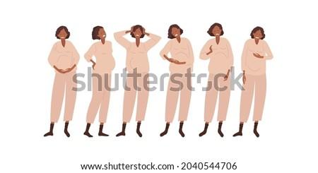 tipo · grávida · conjunto · mulheres · ferimento · rápido - foto stock © toyotoyo