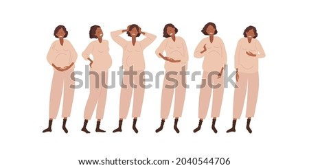 Stock photo: flat type Pregnant women_sickness
