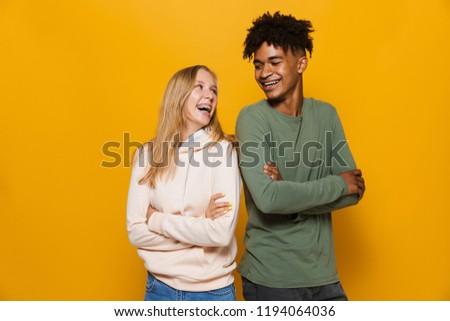 Photo blond femme dentaires accolades souriant Photo stock © deandrobot