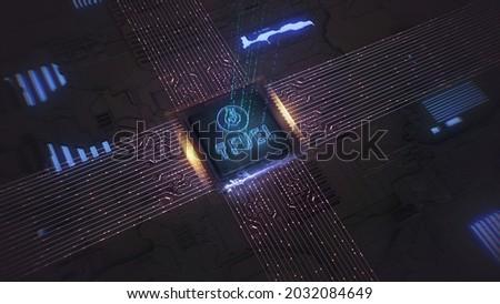 tfuel   theta fuel the icon of money or market emblem stock photo © tashatuvango
