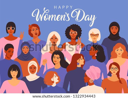 happy womens day creative concept background design Stock photo © SArts