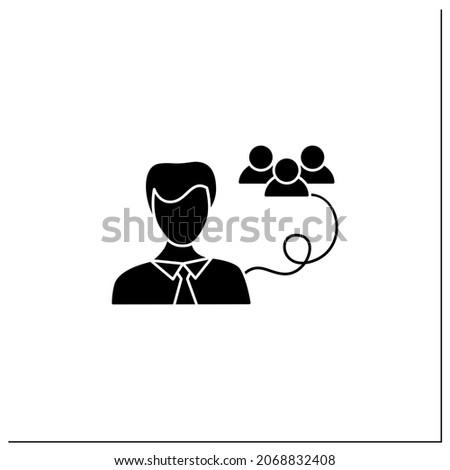 Laptop related vector glyph icon. Stock photo © smoki