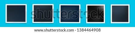 five polaroid frame stock photo © gaudiums