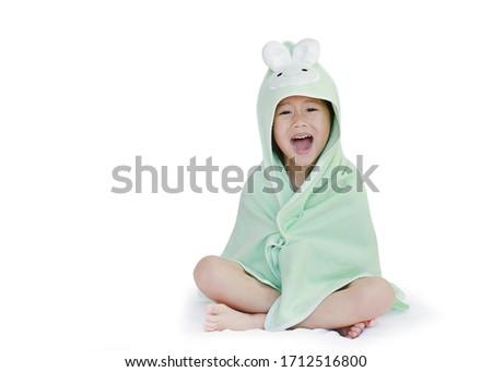 Stock photo: Smiling girl in hood
