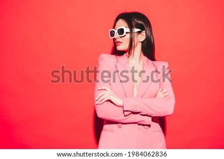 latex · jonge · dame · pistool · vrouwen · mode - stockfoto © acidgrey