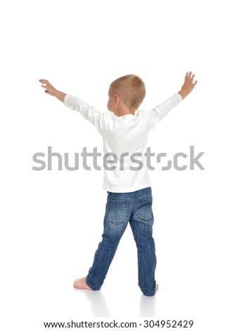 pequeno · menino · sardas · isolado · bocado - foto stock © dacasdo