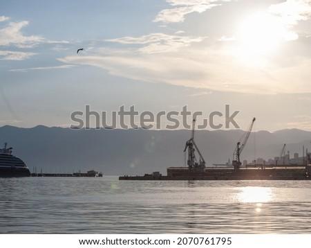 kraan · offshore · boren · staal · witte - stockfoto © anshar