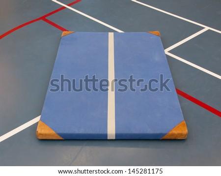 Velho azul tribunal escolas ginásio exercer Foto stock © michaklootwijk