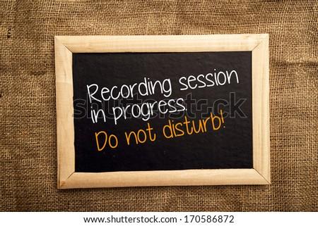 recording session in progress do not disturb stock photo © stevanovicigor