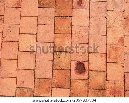 Glina starożytnych cegły tekstury zamek Zdjęcia stock © lunamarina