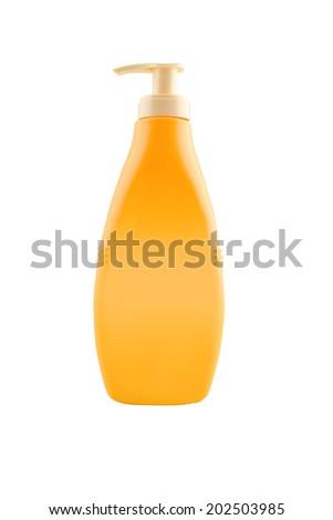 nourishing body milk bottle with work path stock photo © stevanovicigor
