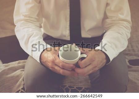 smutne · człowiek · pustym · pokoju · strony · twarz · biznesmen - zdjęcia stock © stevanovicigor
