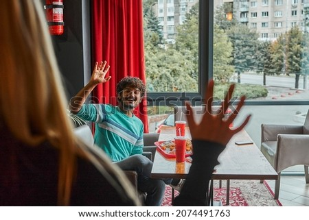 Indian bel homme souriant fromages bleu fête Photo stock © ziprashantzi