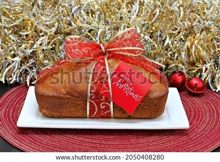 Funt ciasto christmas wstążka wesoły Zdjęcia stock © rojoimages
