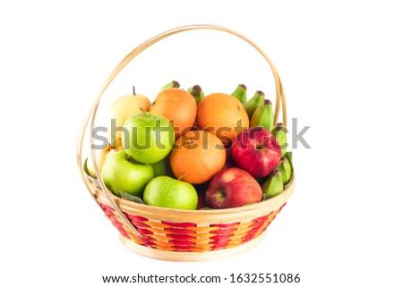 mandarin bananas and apples health fresh food close up stock photo © fotoscool