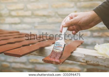 houten · hek · heldere · zomer · dag - stockfoto © stevanovicigor