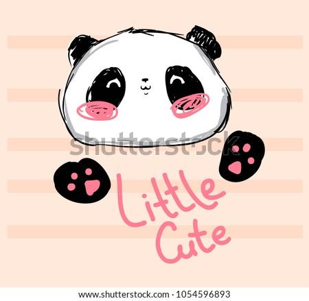 Cute panda emoción icono ilustración signo Foto stock © kiddaikiddee