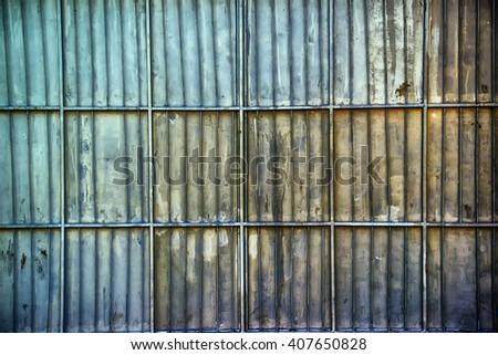 Aluminum metal platted garage wall Stock photo © stevanovicigor