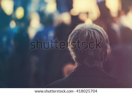 Stockfoto: Onherkenbaar · ouder · volwassen · persoon · outdoor · politiek