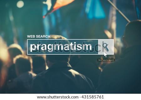 Web search bar glossary term - pragmatism Stock photo © stevanovicigor