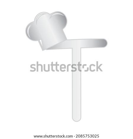 Cook Themed Alphabet Design Concept: T Stock photo © sdCrea