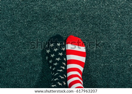 патриотический взрослый мужчины США флаг Сток-фото © stevanovicigor