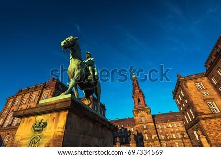 Equestrian statue of King Christian the 9th Copenhagen Denmark Stock photo © stevanovicigor