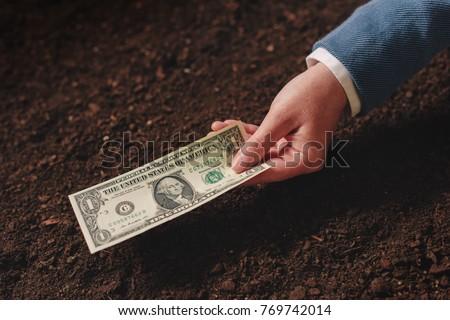 Bank loan for agricultural activity in USA dollar banknotes Stock photo © stevanovicigor