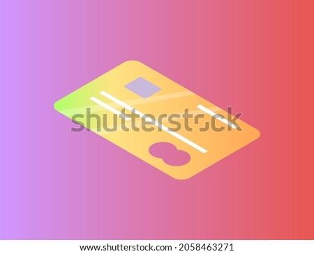 Débit carte de crédit emblème icône isolé vecteur Photo stock © robuart