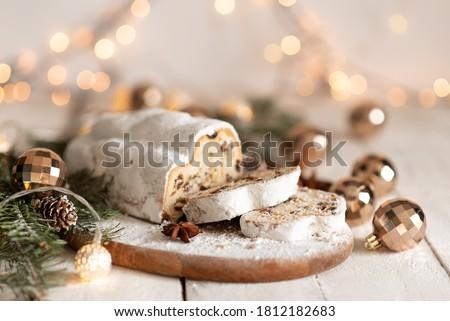 Navidad decoración tradicional pastel de frutas alimentos Foto stock © Melnyk