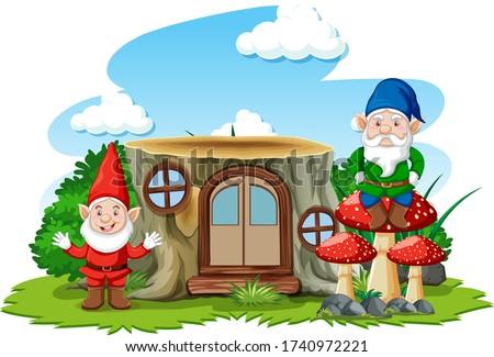 Permanente naast huis witte illustratie Stockfoto © bluering