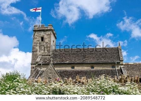 Exterior of St Mary Church Swinbrook Stock photo © backyardproductions