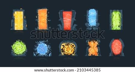 Magical vortex in a stone arch doorway Stock photo © Balefire9